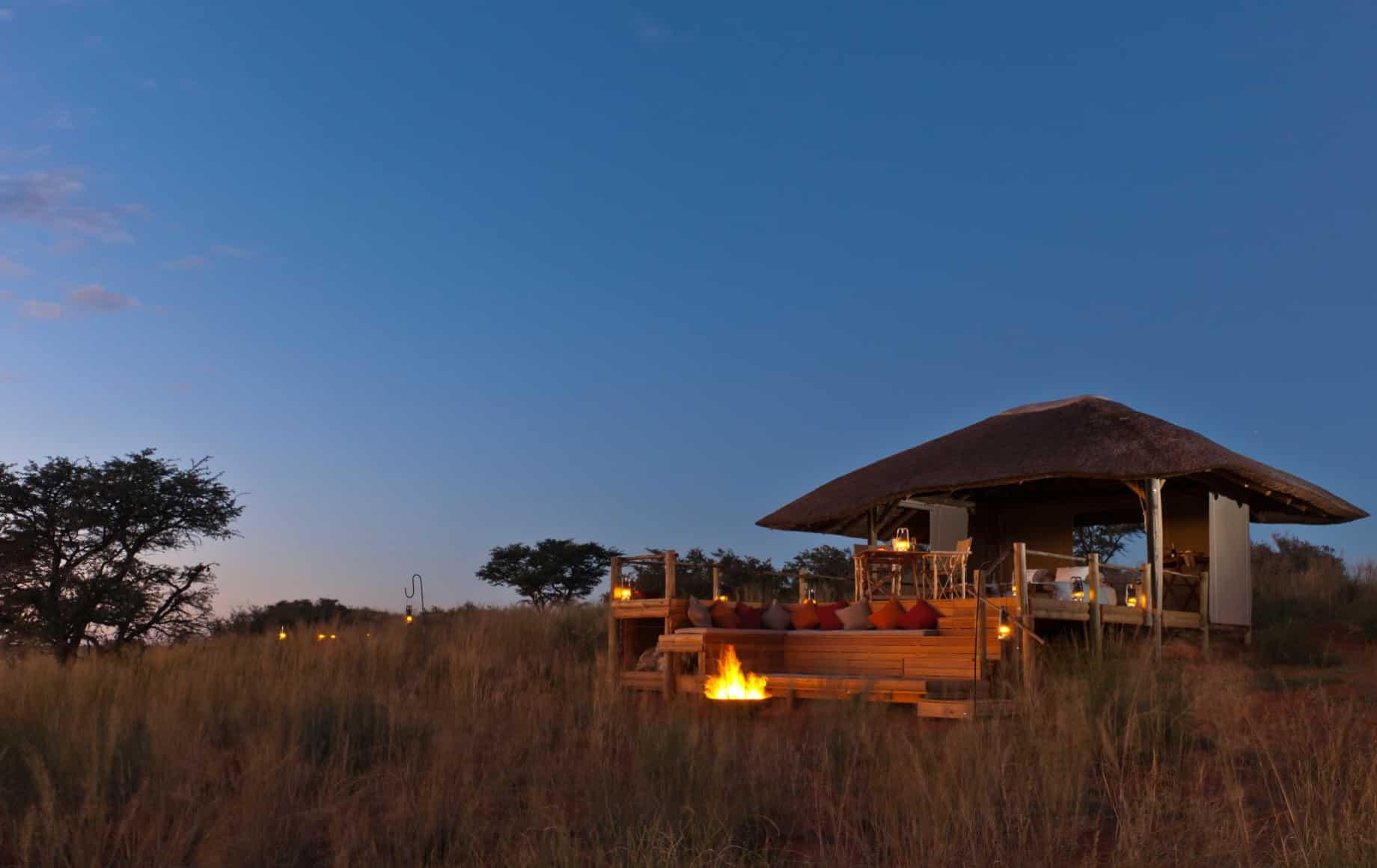 overlooking a cabin at Tswalu Motse