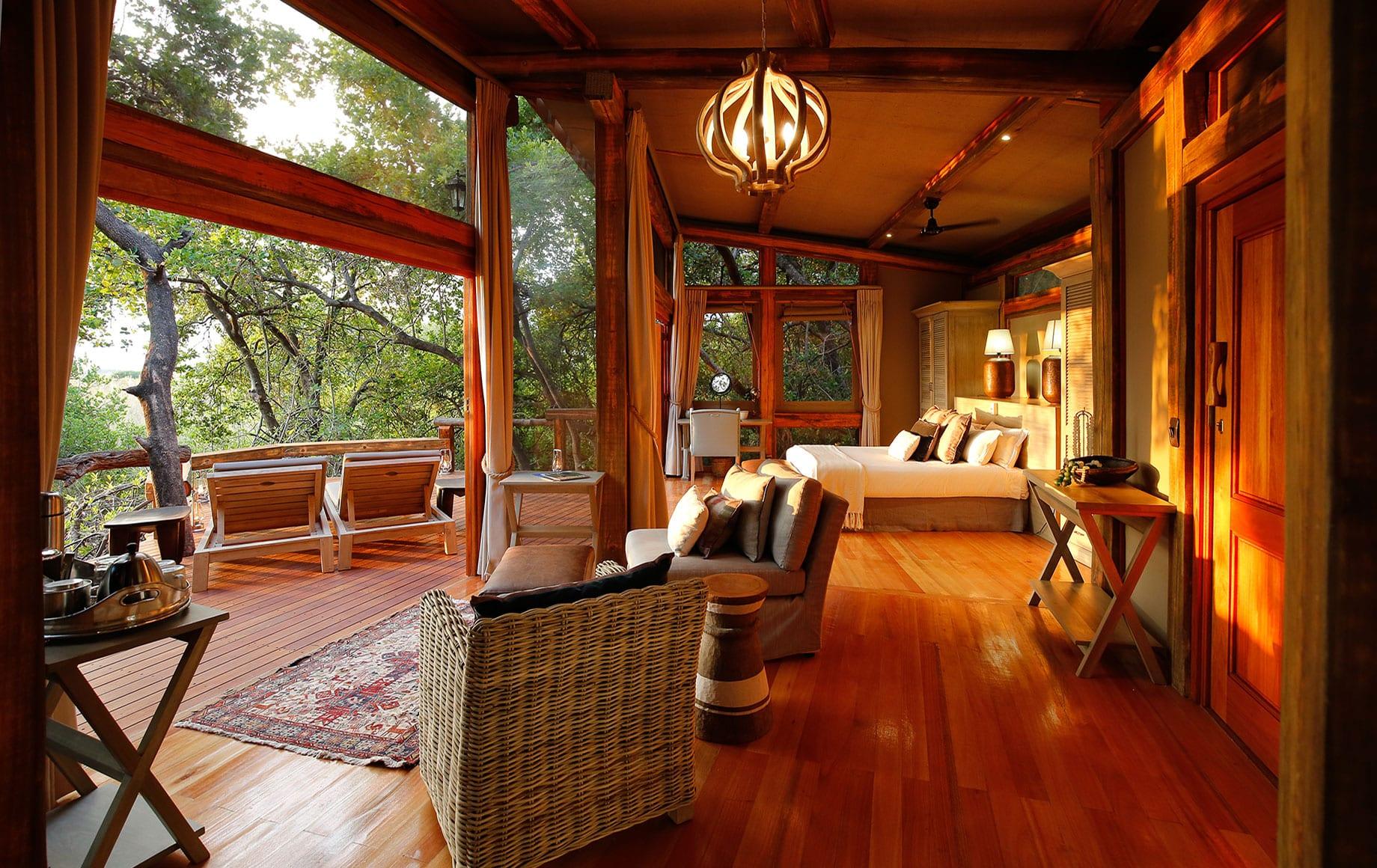 A lounge at Camp Okavango