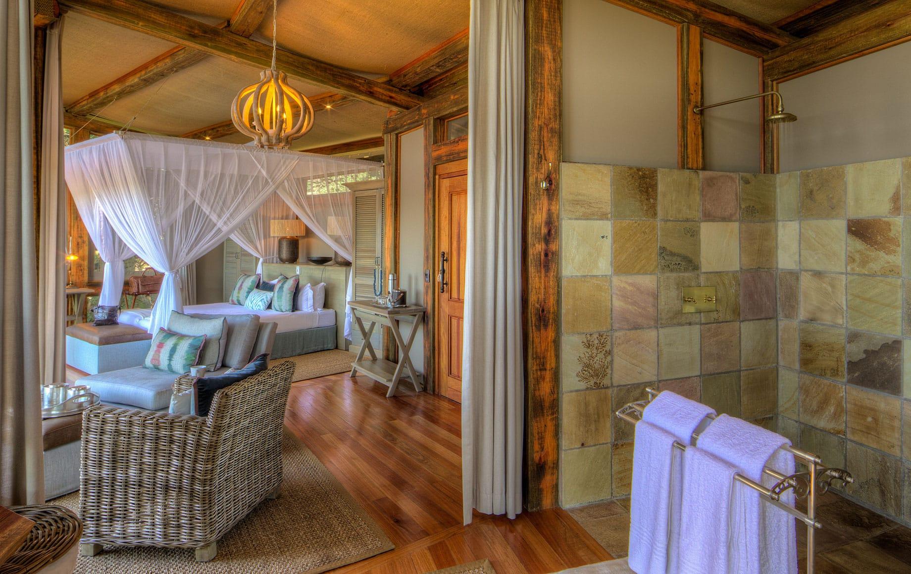 Bathroom in a room at Camp Okavango