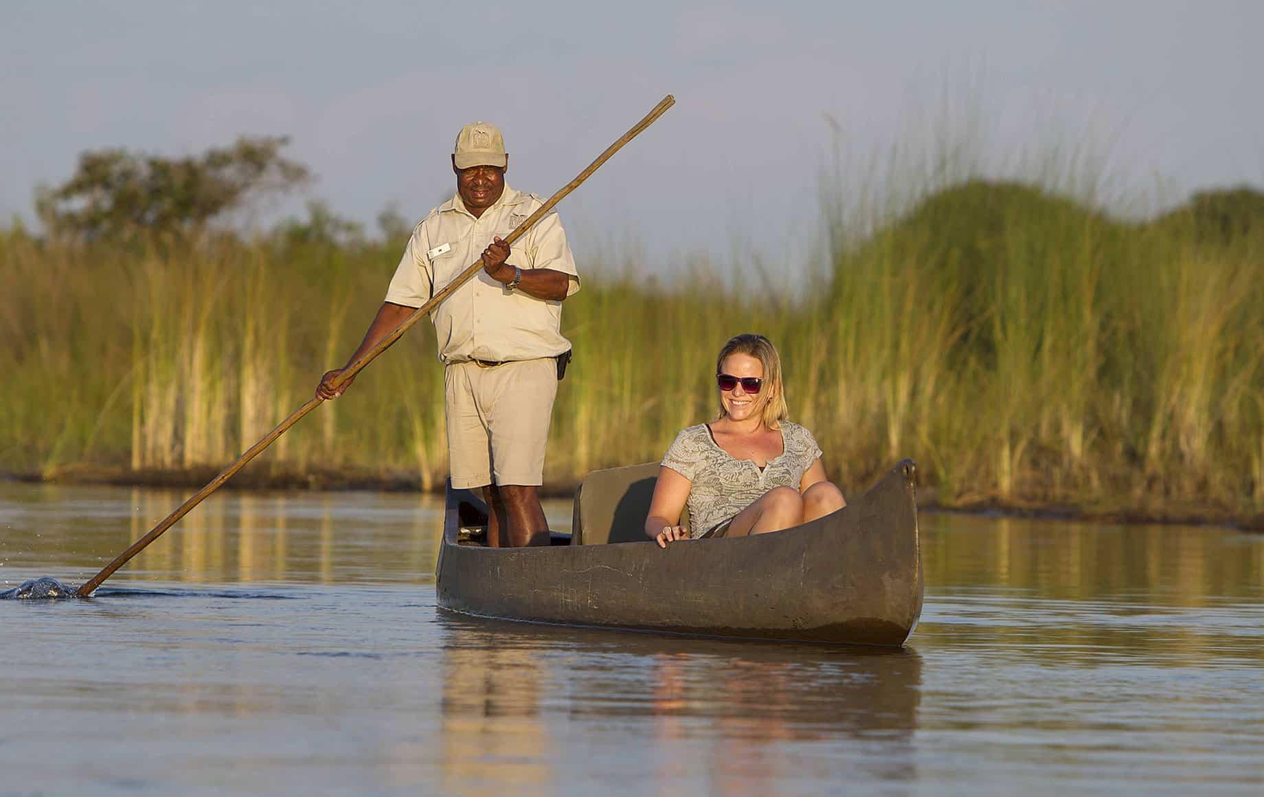 A canoe trip in Kenya