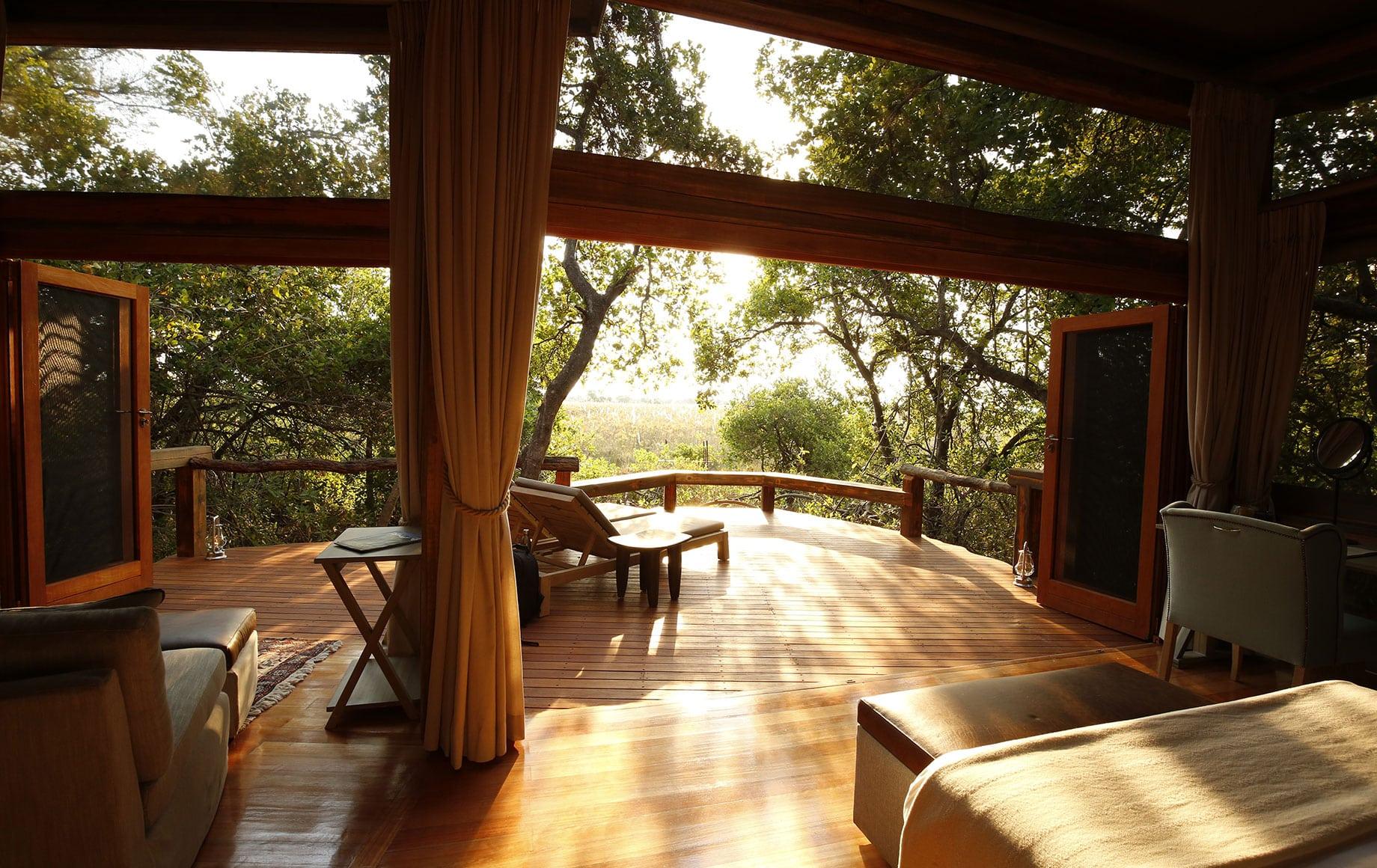 Deck at camp Okavango