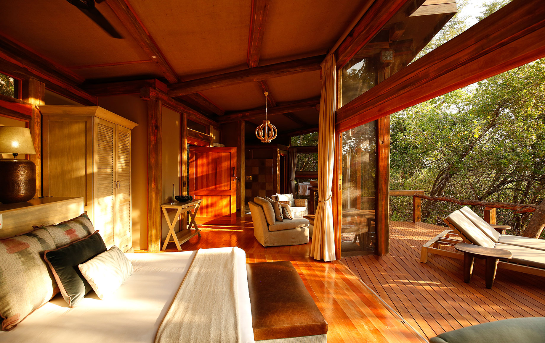 Bedroom at Camp Okavango
