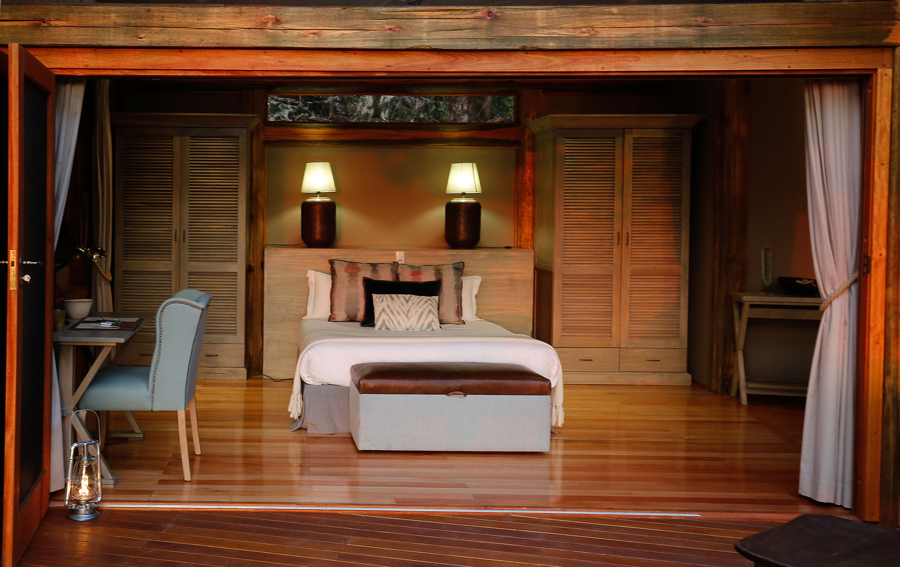 Another view of the king bedroom at Camp Okavango