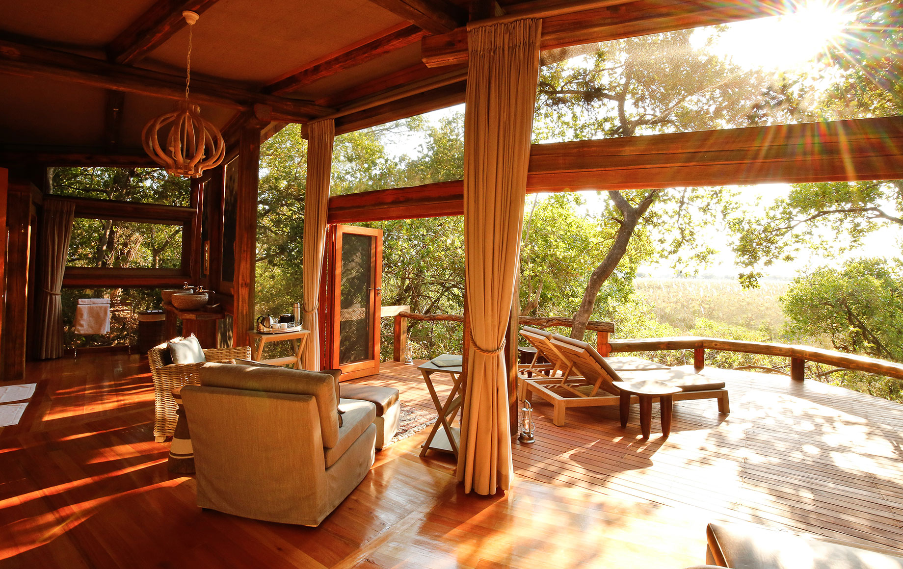 Another view of the lounge at Camp Okavango