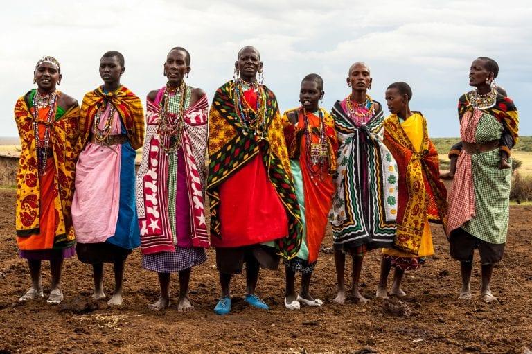 native women in dresses