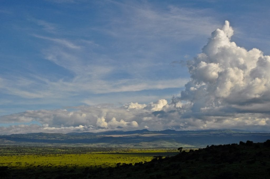 African Skies with Clouds by Tom Cole