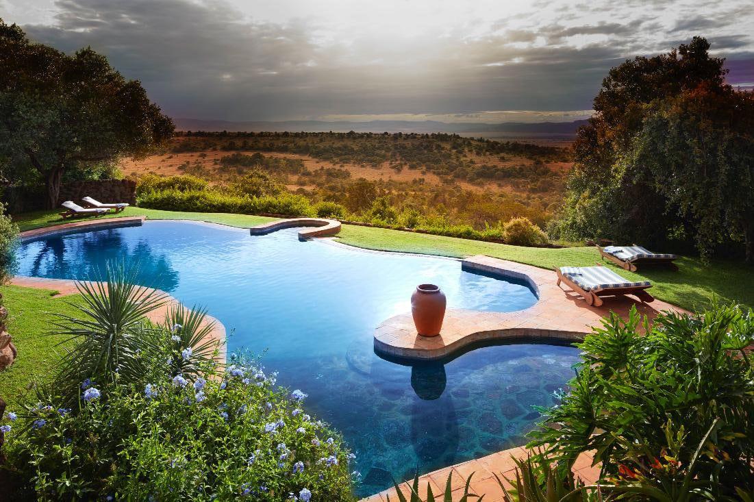 a pool at Laragai House