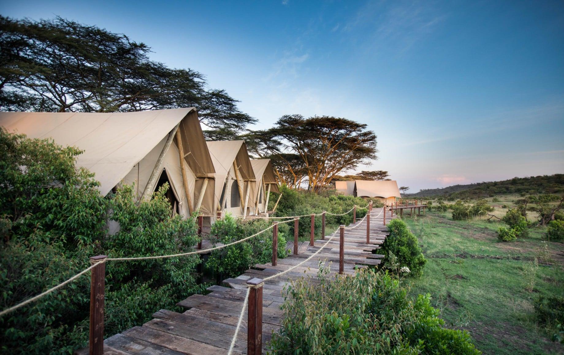 a row of rooms at Mara Nyika