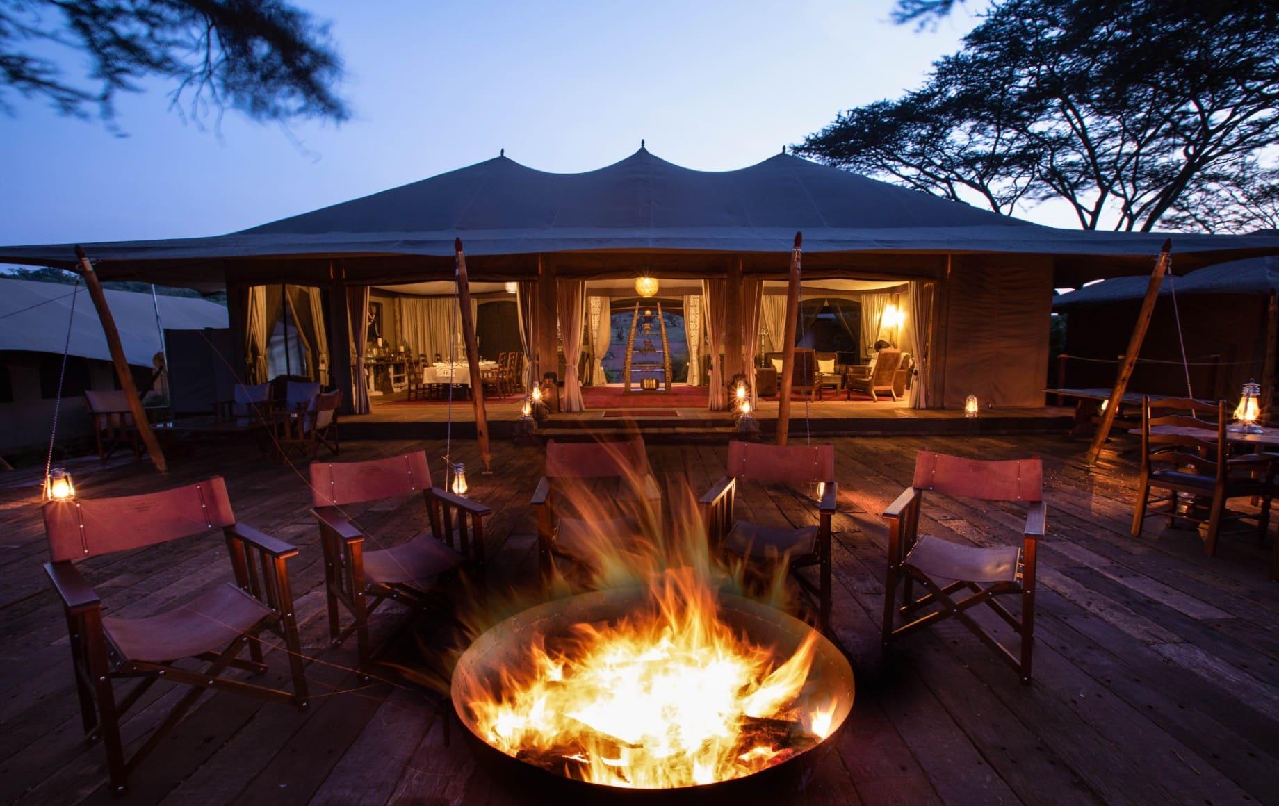A fire pit at Mara Nyika