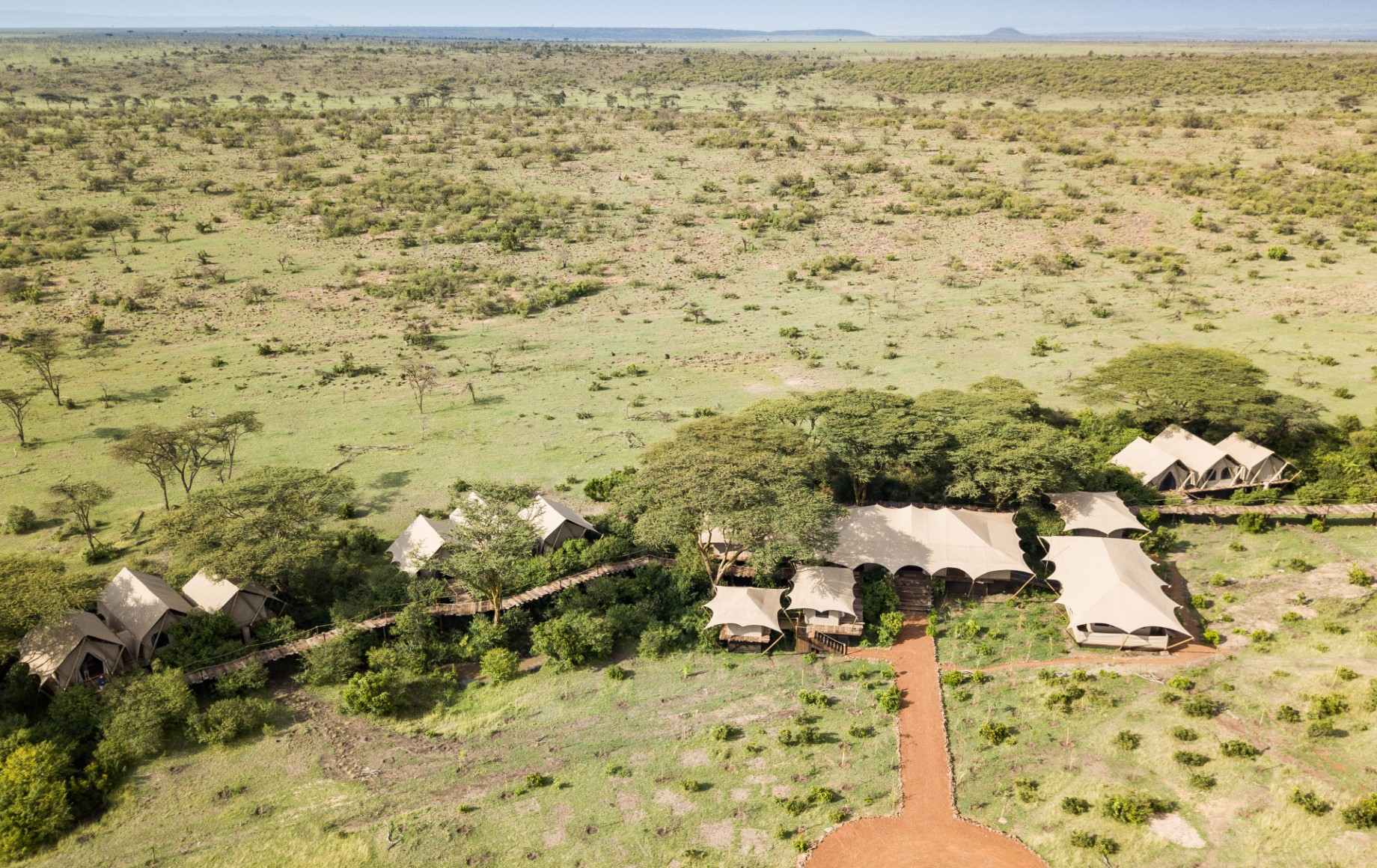 an aerial photo of Mara Nyika