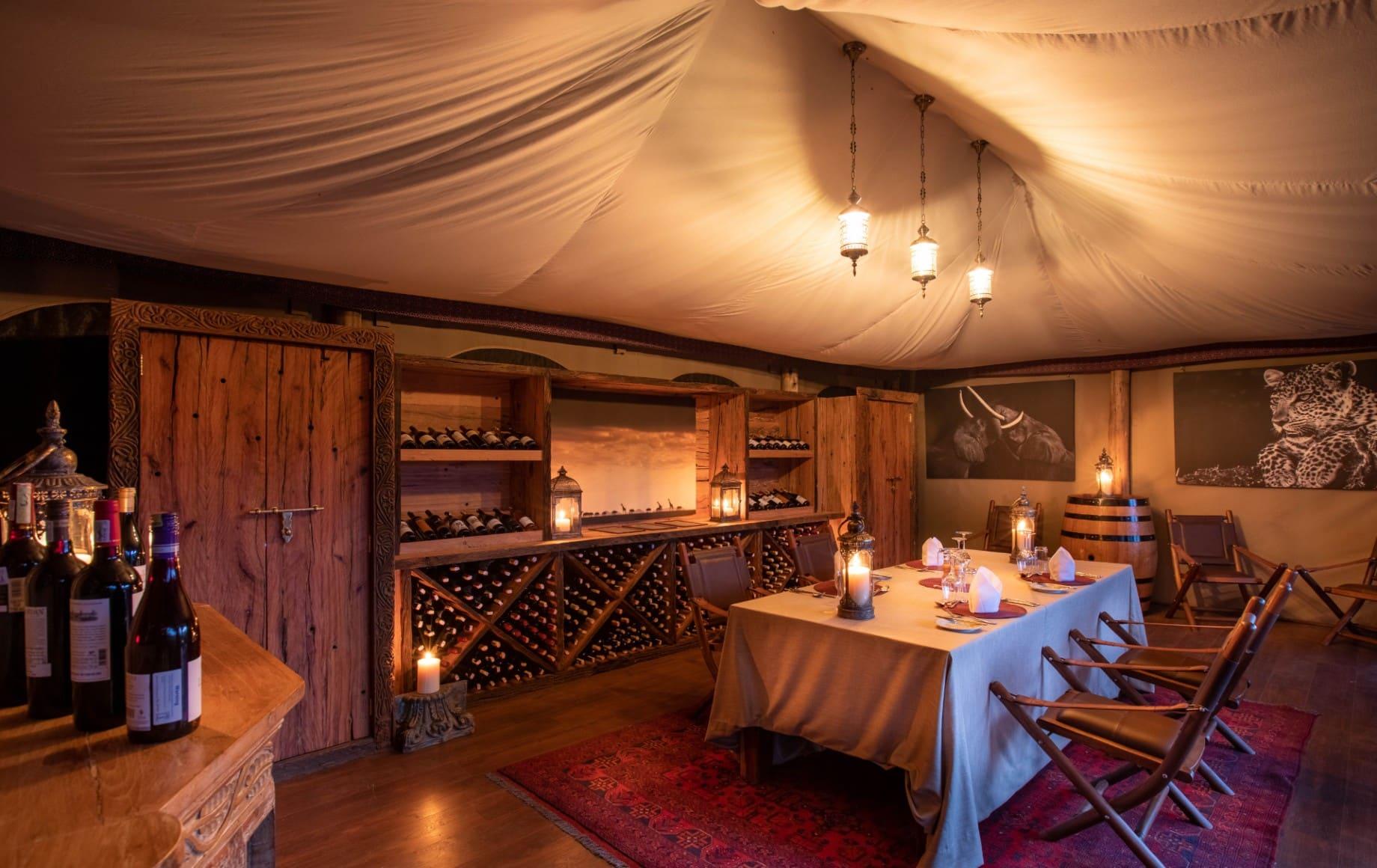 a dinner room at Mara Nyika