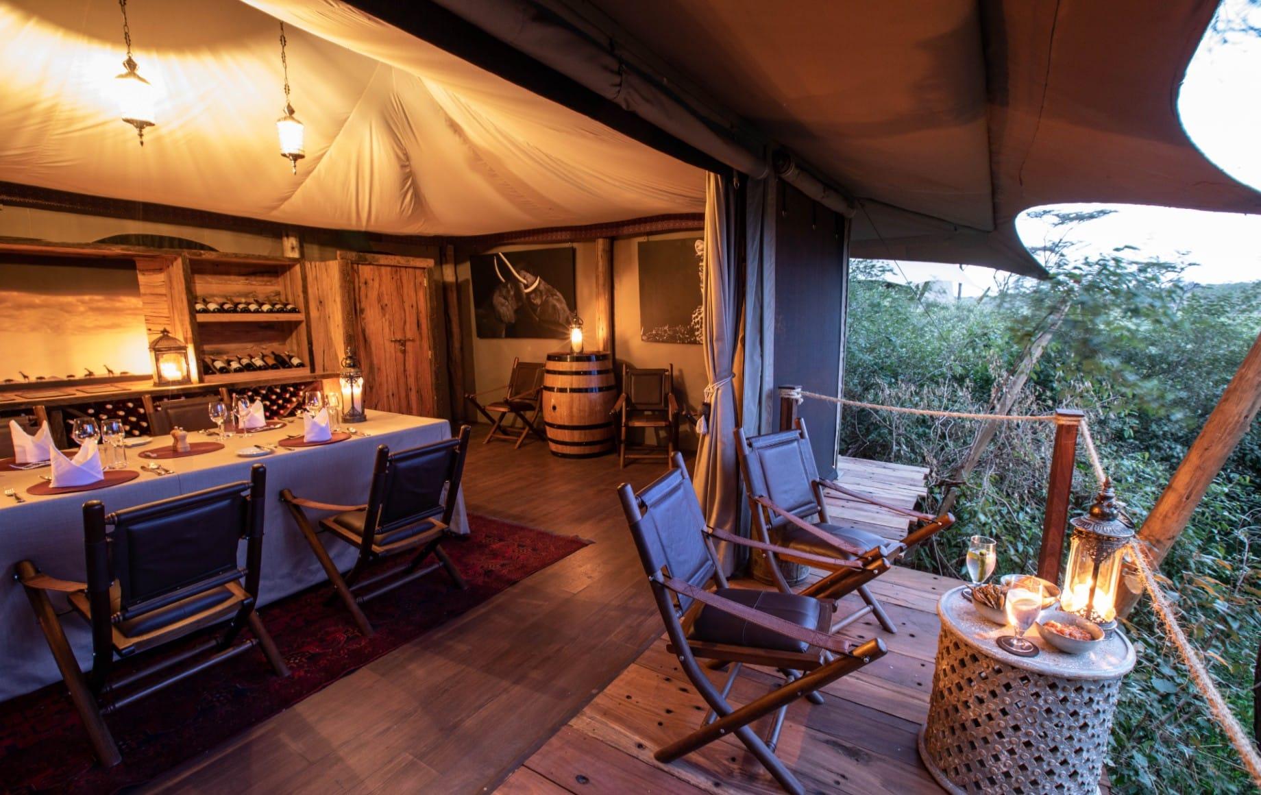 a room and adjoining deck at Mara Nyika