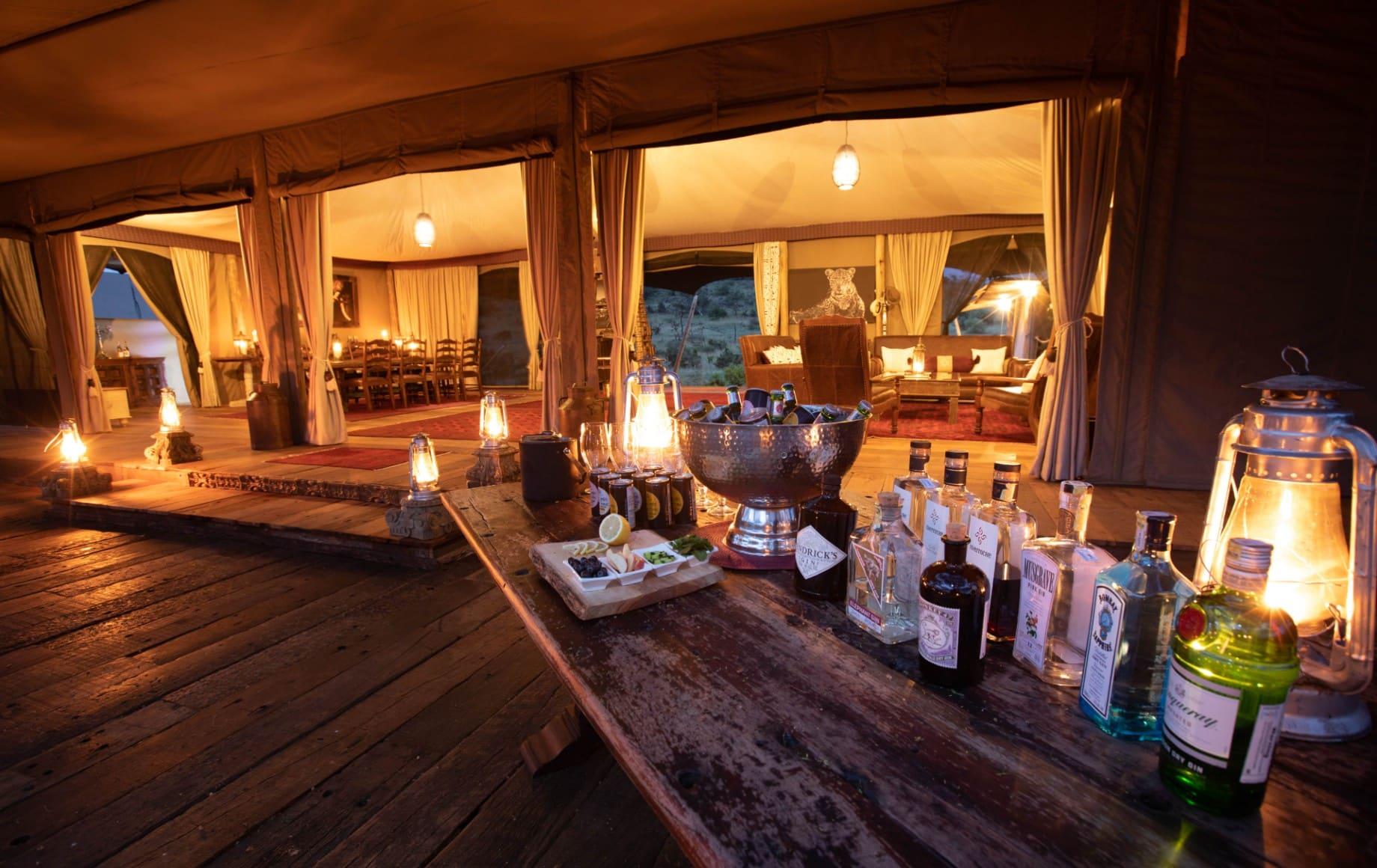 a display outside of liquour at Mara Nyika