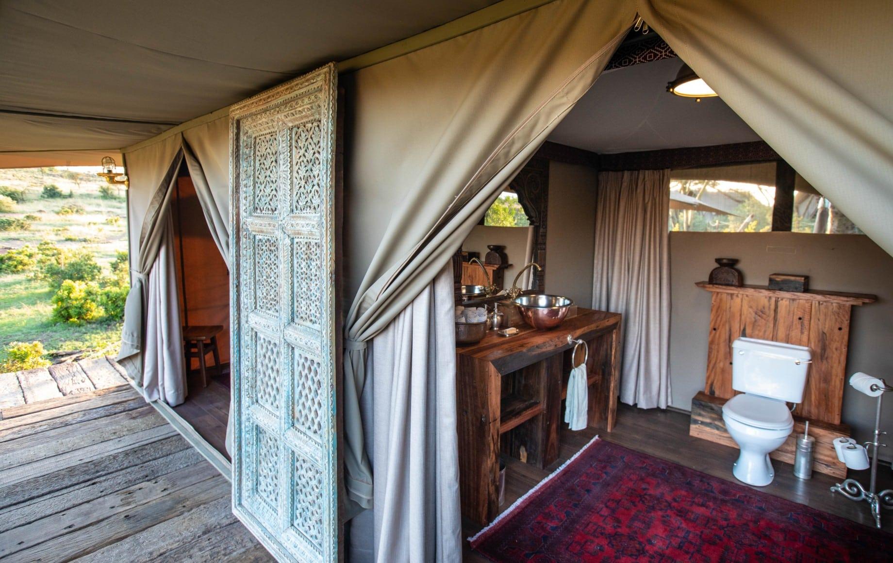 two adjoining rooms at Mara Nyika