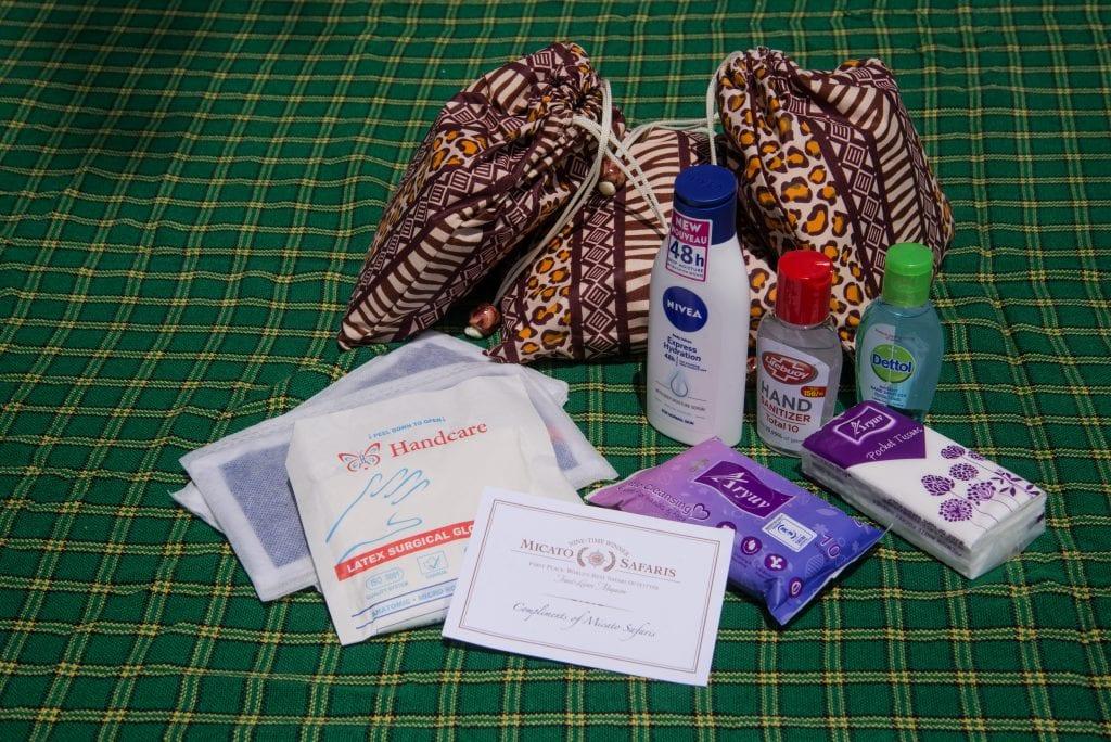 personal sanitzation kit from Micato