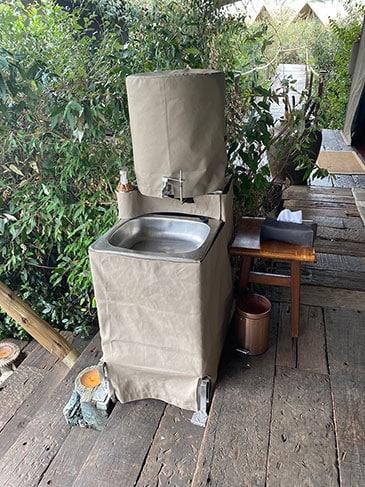 A hand washing station