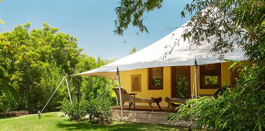 luxury tent at Oberoi Vanyavilas