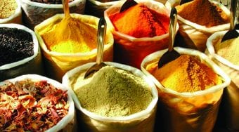 spices from an indian market