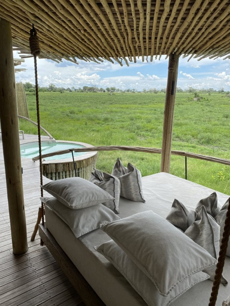 private plunge pool on safari