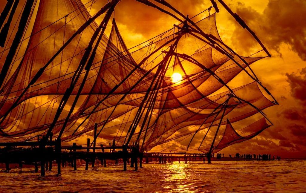 fishing nets in kerala india