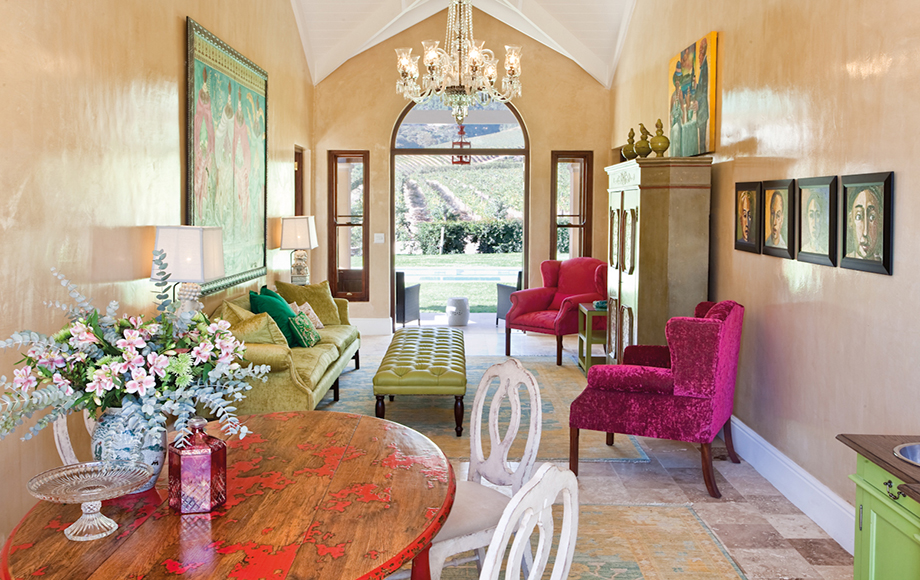 Seating area at La Residence