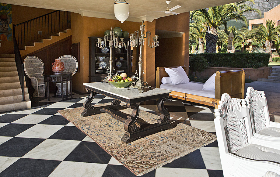 Outdoor seating area at La Residence