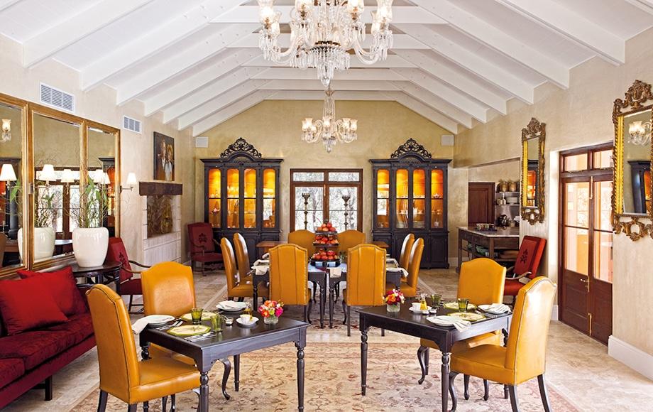 Dining at La Residence