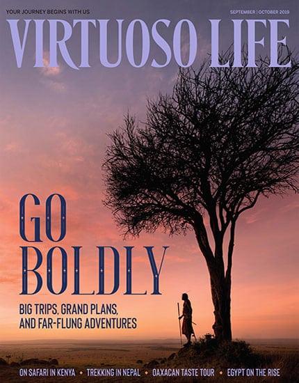 The cover of Virtuoso Life magazine.