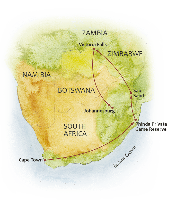 The Jewels of Southern Africa Map