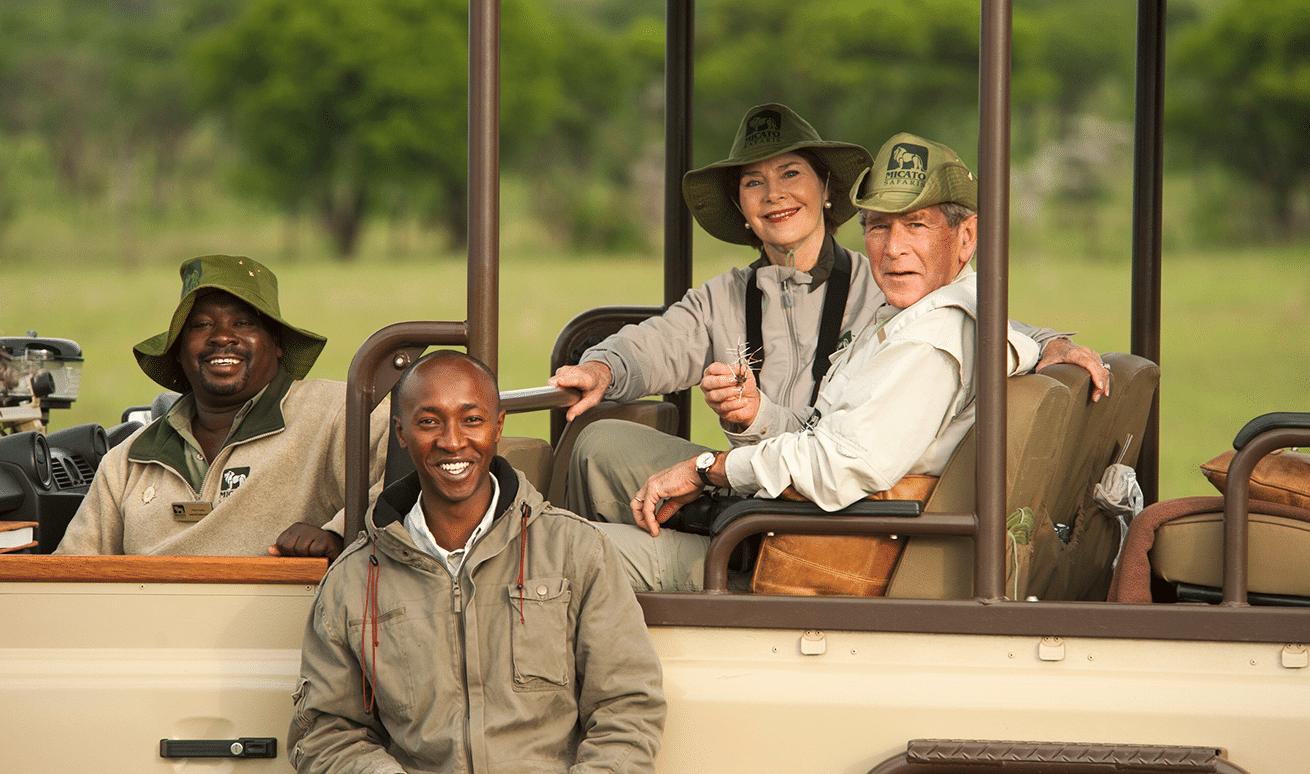 George W Bush on a Micato safari in East Africa